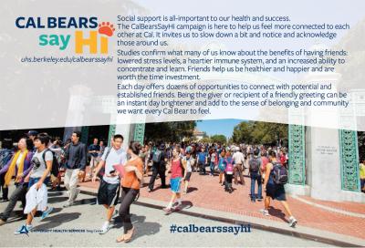 Cal Bears Say Hi Postcard graphic