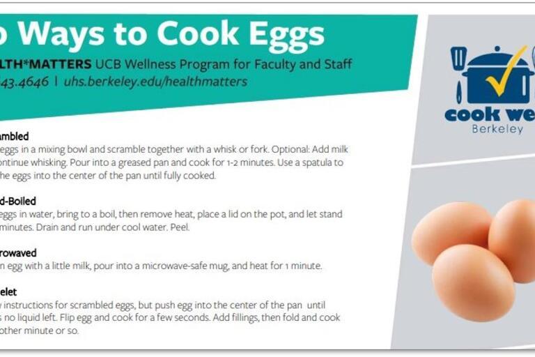 10 ways to cook eggs handout