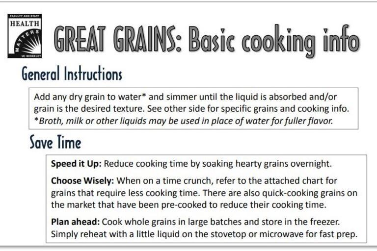 great grains handout
