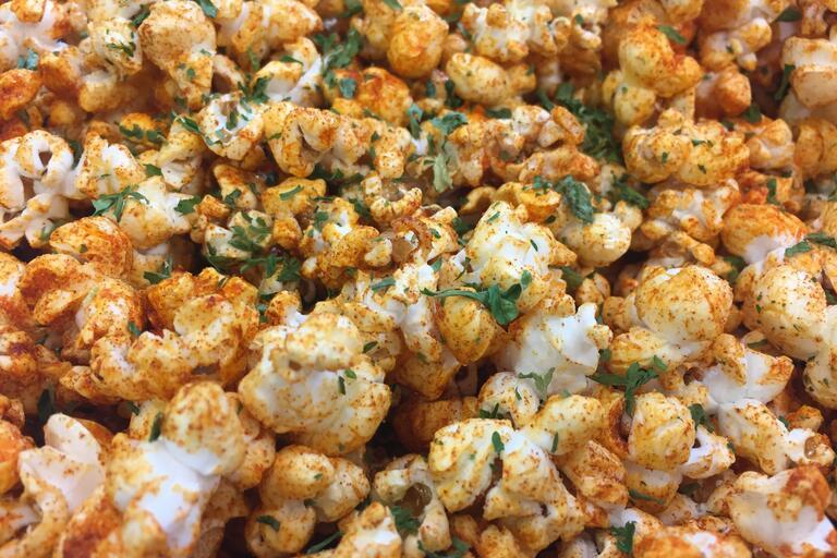 Holiday Paprika Popcorn
