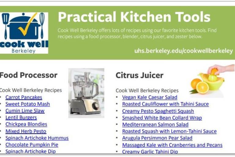 practical kitchen tools handout