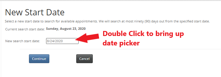 etang showing date picker