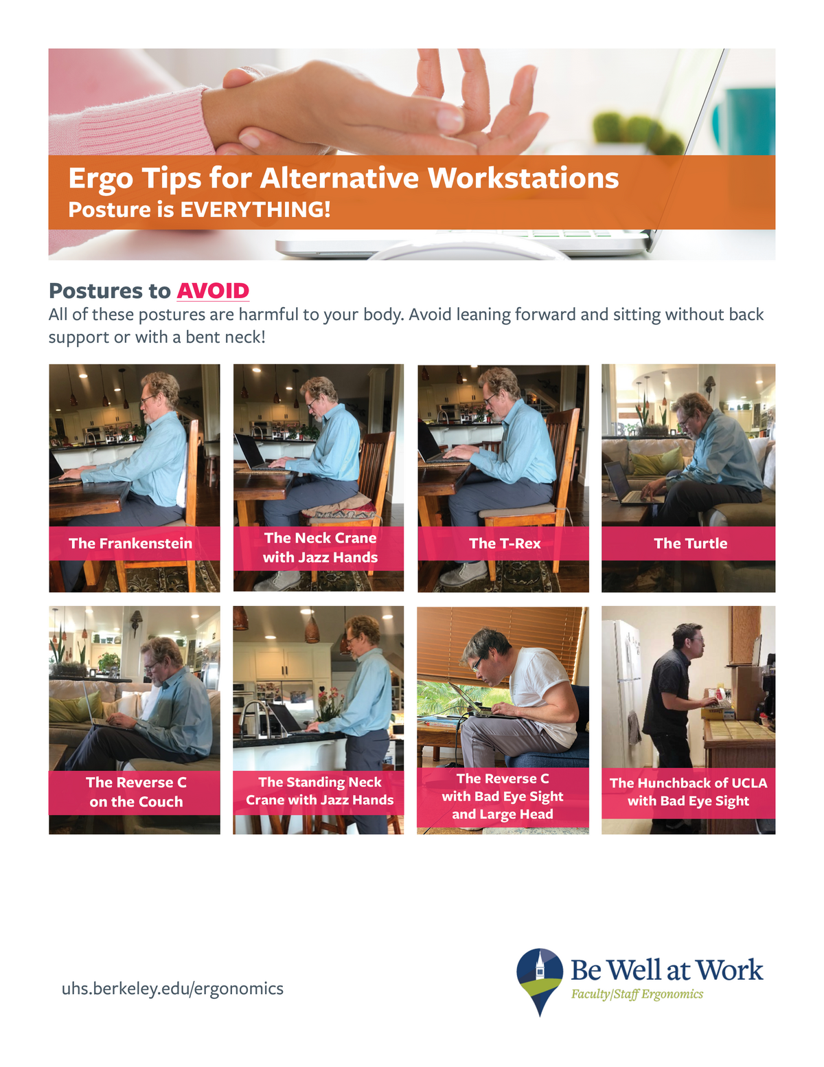 Tips for alternative workstations handout