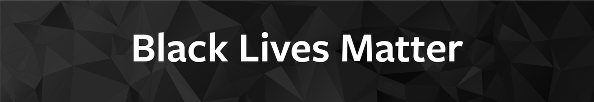 """black lives matter"" text on black banner"