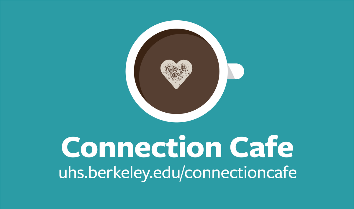 graphic of a coffee cup with the words connection cafe