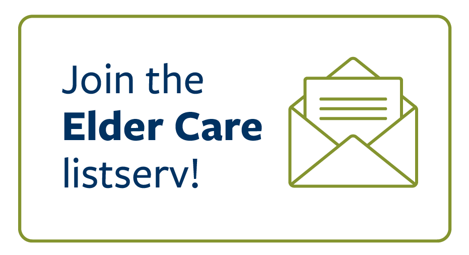 Stay connected with the elder care newsletter