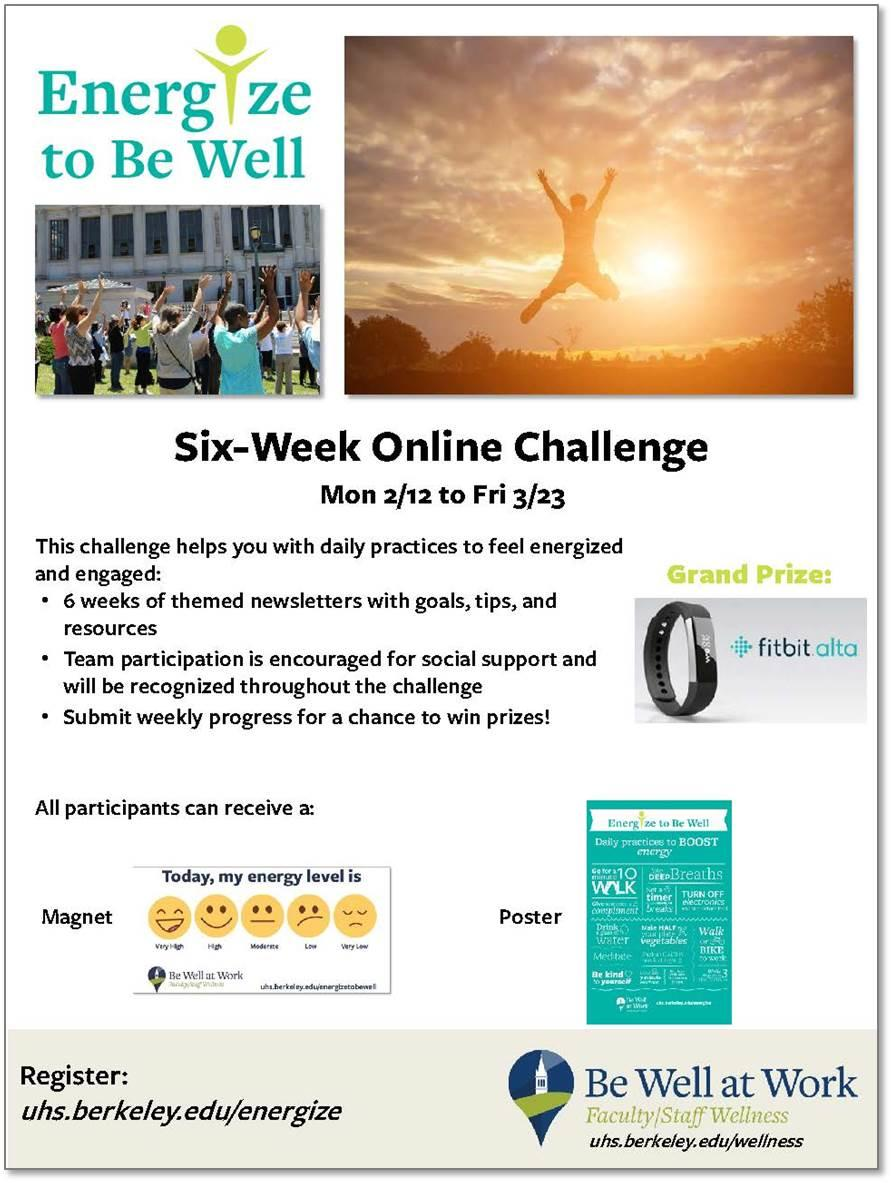 Energize to Be Well Flyer
