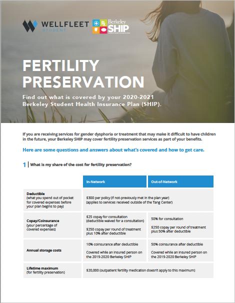 fertility benefits flier