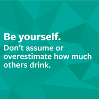 Be yourself. Don't assume or overestimate how much others drink.