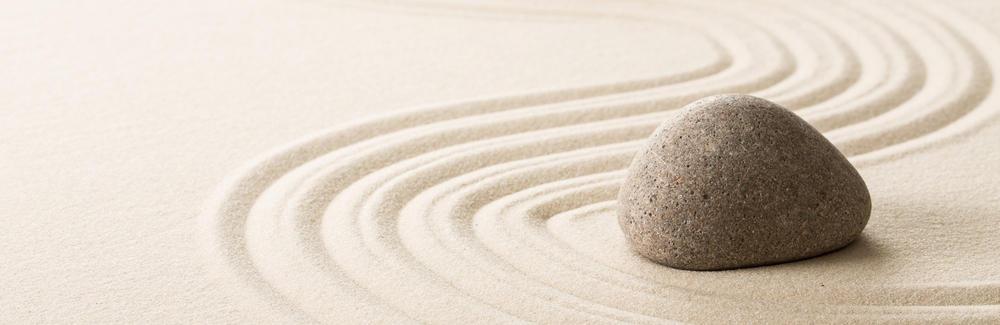 image of zen rock garden