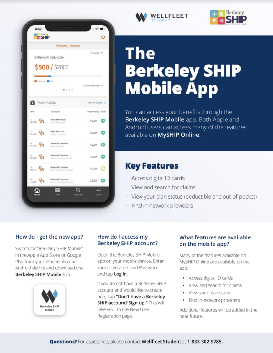 App for UC Berkeley SHIP