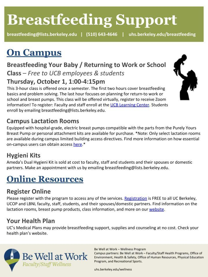 Breastfeeding Support University Health Services