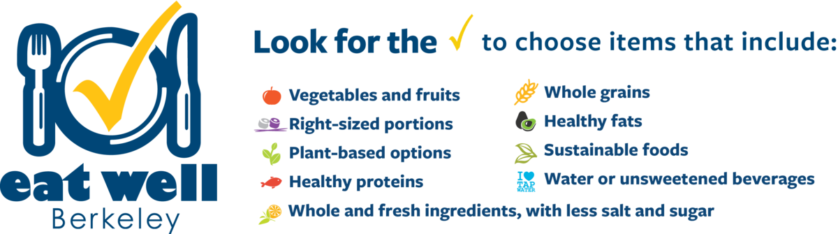 Eat Well Berkeley Banner with requirements