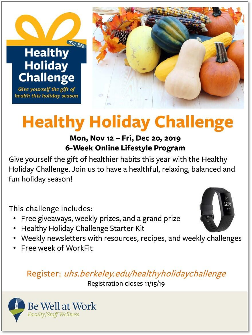 Join Our Happy, Healthy Holiday Challenge