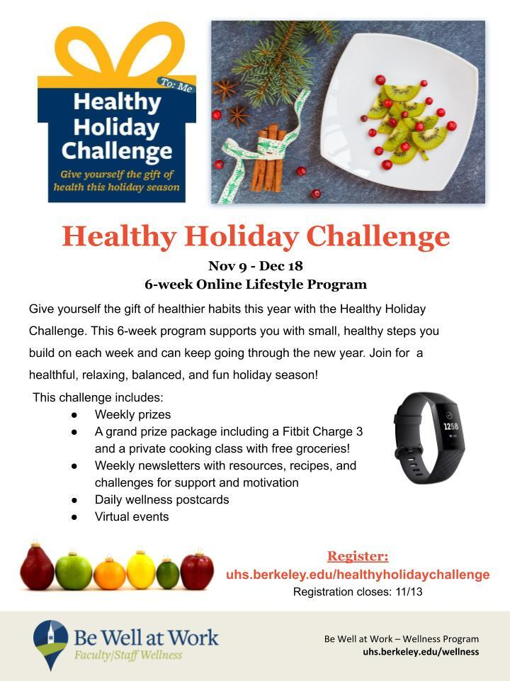 healthy holiday challenge flyer