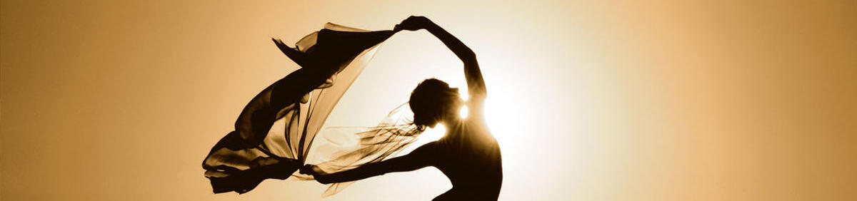 silhouette of yoga or dance