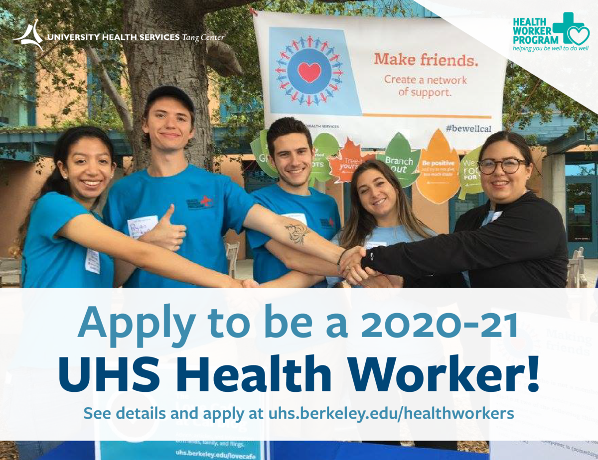 "a photo of health workers with text over it that says ""apply to be a 2020-21 healthworker"""