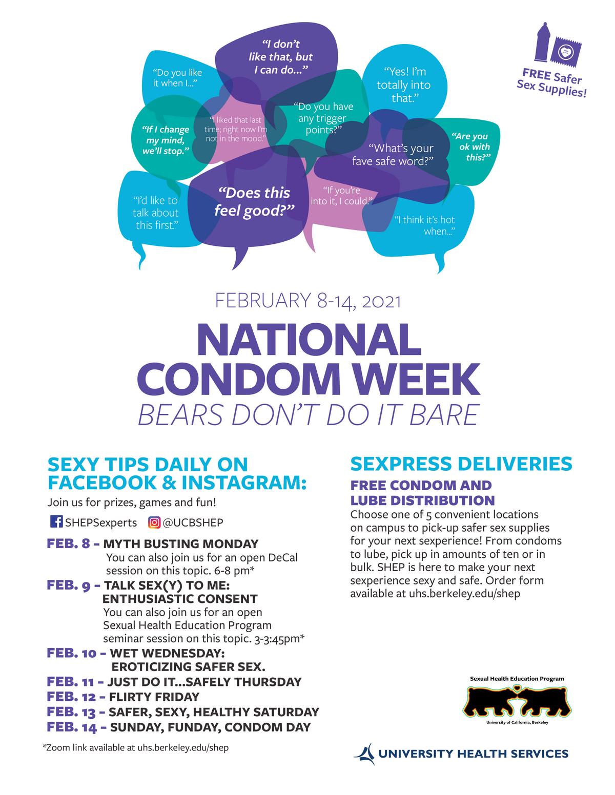National Condom Week Flier