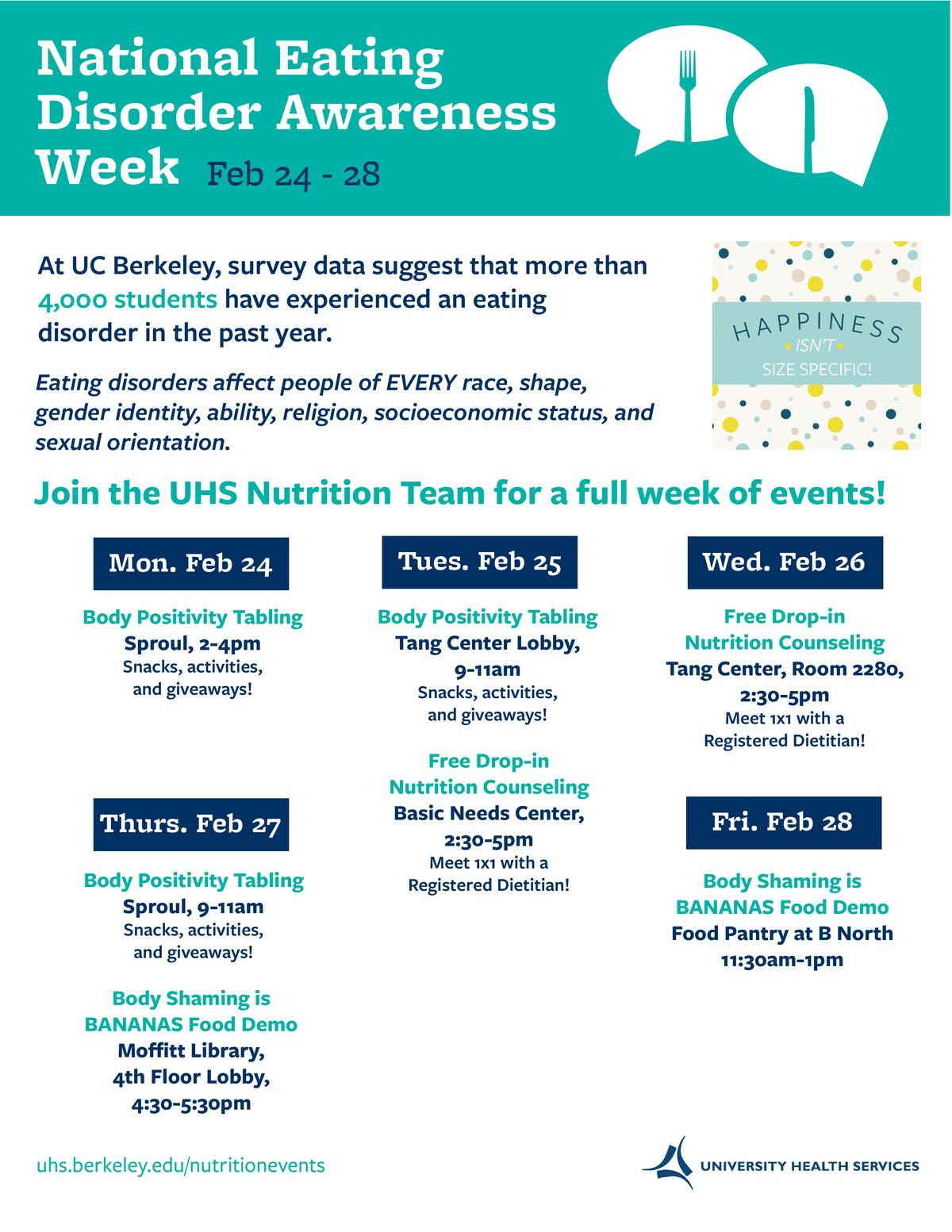 National Eating Disorder Awareness Week Flier