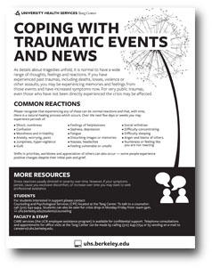 Coping with Trauma Flier graphic
