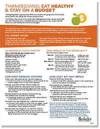 thanksgiving resources handout