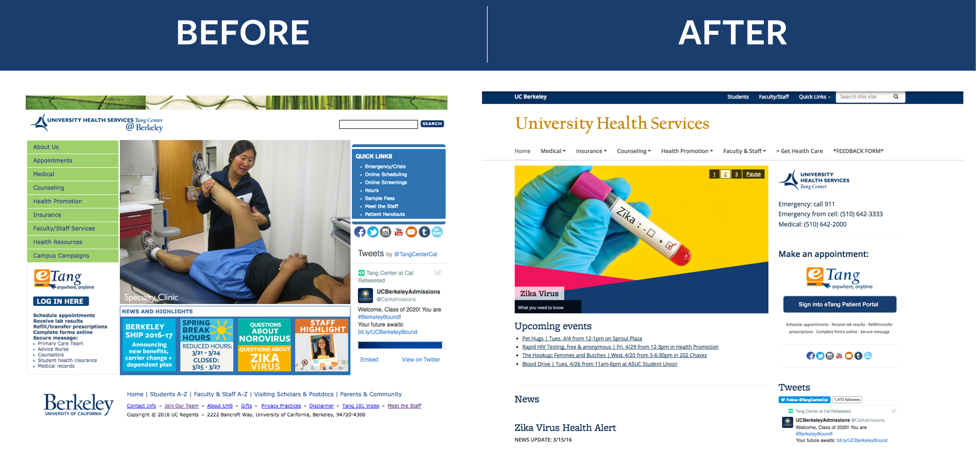 it s here announcing the launch of our newly redesigned website a special thanks to the uhs communications team open berkeley link is external team and students and staff participating in the redesign process