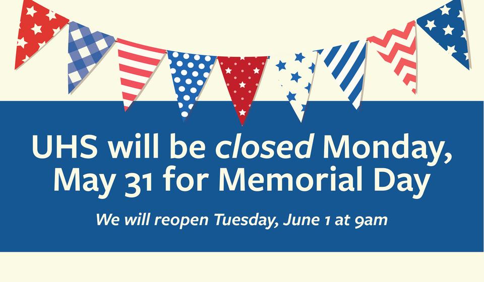 Memorial Day closed