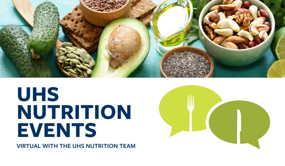 The UHS nutrition team provides regularly scheduled free nutrition events on and around campus