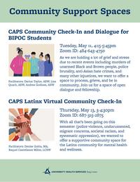 CAPS community spaces flyer