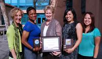Wellness Program Staff Photo with Platinum Award