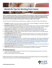 Work Life Work From Home Tips Handout