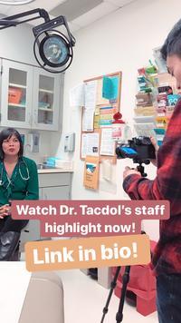 Instagram shot of Dr Tacdol