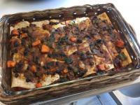 Sweet Potato, Bean and Veggie Enchiladas