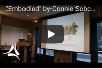 Image of Video still of Connie during the Embodied Talk