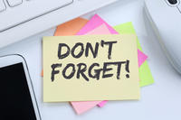 Image of Don't Forget Sticky Note