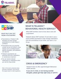 SHIP Teladoc Psychiatry Flier