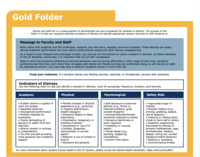 image of first page of gold folder guide.