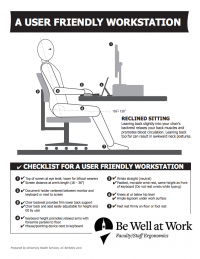 CHECKLIST FOR A USER FRIENDLY WORKSTATION