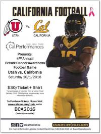 Breast Cancer Awareness Football Game Flyer