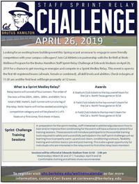 Brutus Hamilton Staff Sprint Relay Challenge Flyer