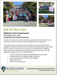Cal for the Cure Flyer