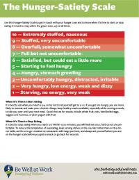 Hunger Satiety Scale