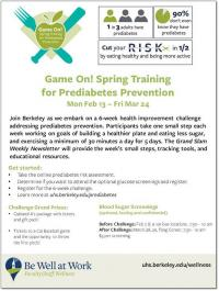 Game On! Spring Training for Prediabetes Prevention Flyer