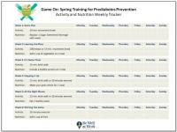 Prediabetes Prevention Weekly Tracker