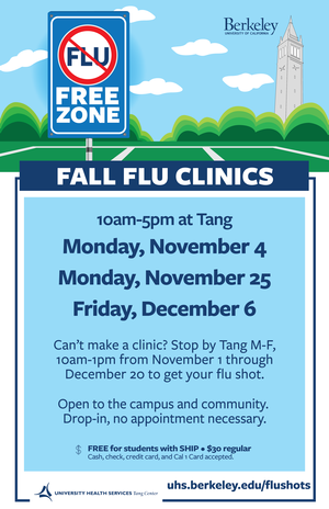 flu shot poster with dates