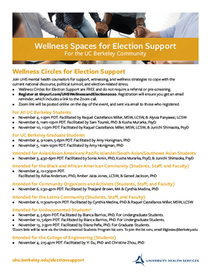 Wellness Spaces for Election Support