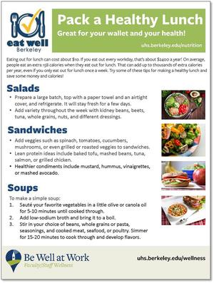 Pack a Healthy Lunch Handout