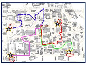 UC Walks Map and Route