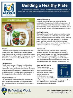 Building a Healthy Plate Handout