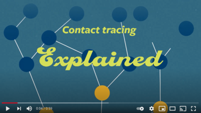 Contact tracing explained video